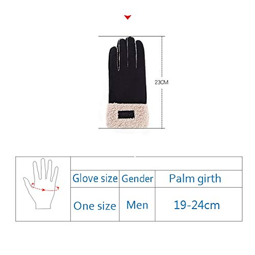 AINIYF Full Finger Motorcycle Gloves| Men's Winter Suede Outdoor Gloves Warm Winter Racing Motorcycle Thicken Windproof Plus Velvet Student (Color : Coffee color) by AINIYF (Image #1)