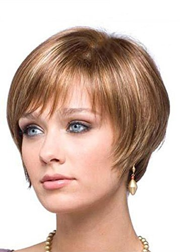 Short Bob Wigs Straight Blonde Wigs Pixie Cut Wigs High Resistant Synthetic Wigs For Women 8 (Blonde Pixie Wig Halloween)
