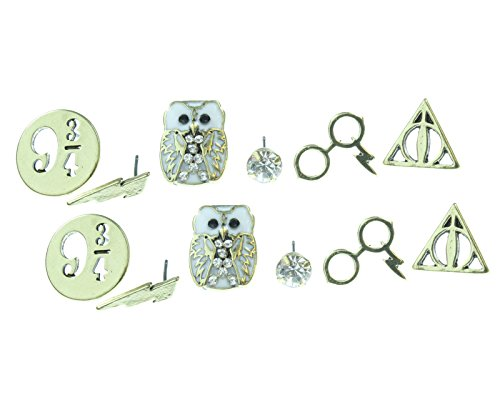 [Harry Potter Earrings 6 Pair Set] (Ron And Hermione Costumes)