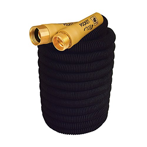 New Pocket Hose Top Brass Bullet by BulbHead No Kinking Or Leaking With Solid Brass Connector, Expandable Lightweight Compact For Easy Storage (50 feet)