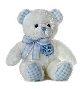 """Plush Baby 14"""" Blue My First Teddy Bear"""