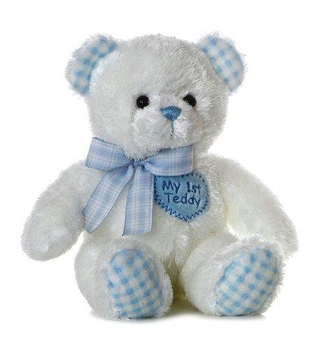 ebba Plush Blue My First Teddy Bear, 14