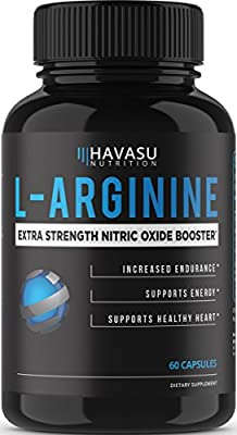 Extra Strength L-Arginine 1200mg Nitric Oxide Booster for Muscle Growth, Libido, Vascularity & Energy | Cardio Heart Supplement With L-Citrulline | Essential Amino Acids To Train Longer & Harder