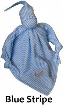 Snoedel NICU Newborn Preemie Baby Sleeping Bonding Aid Snuggle Blanket (Blue Stripe)