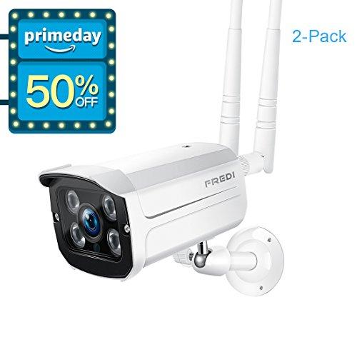FREDI Wireless Security Camera system,1080p WiFi Wireless IP Bullet Camera WIFI Surveillance Camera Outdoor(Weatherproof)(2-pack) by KinCam