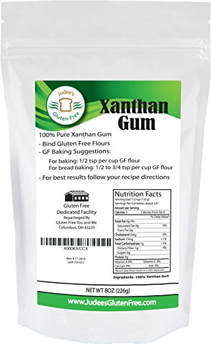 Guar Gum - Xanthan Gum Gluten Free(8 oz) - USA Packaged & Filled - Dedicated Gluten & Nut Free Facility