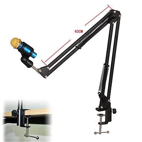 Dreamyth Mic Arm Stand Microphone Suspension Boom Scissor Holder For Studio Broadcast Affordable