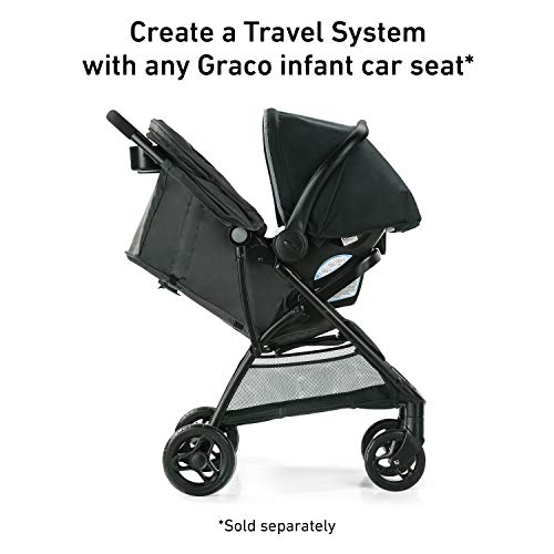419CRzBbroL - Graco NimbleLite Stroller | Lightweight Stroller, Under 15 Pounds, Car Seat Compatible, Compact Fold, Hailey