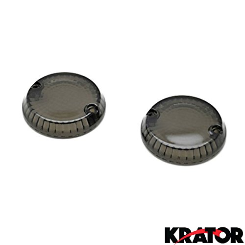 Krator Smoke Turn Signal Lens Lenses Indicator Blinkers For Kawasaki Vulcan 1600 Mean Streak 2004-2008