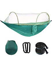 Camping Hammock with Mosquito Net for 2 Person 440 lbs | Ultralight Travel Hammock with Bug Net 2 Hanging Straps