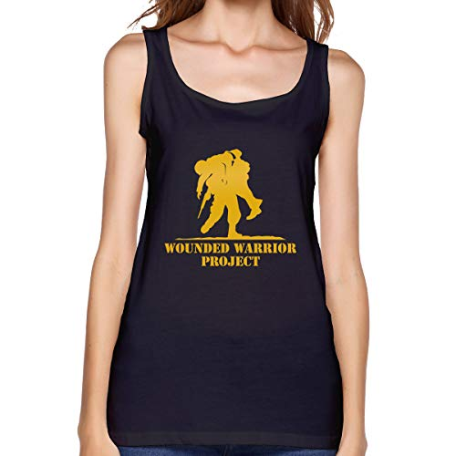 Women's Wounded Warrior Sleeveless Undershirt Supersoft Camisole Shirt Stretch Casual Tank Tops Black