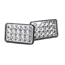 "Benson USA 1pr7x6-C Chrome LED Headlight Conversions H6014/6052/6054 Chrome Crystal 45W Cree HID LED High/Low Headlights Conversion, 7"" L x 6"" W"