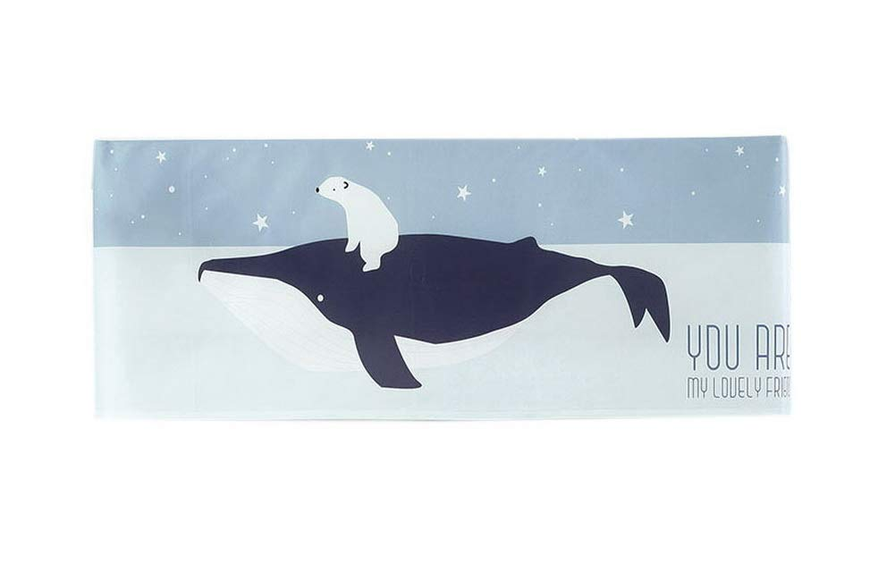 Gentle Meow Home Restaurant Dustproof Air Conditioner Cover, Whale and Bear by Gentle Meow (Image #1)