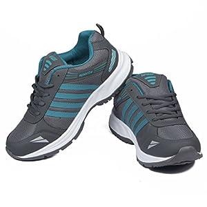 ASIAN Shoes Wonder-13 Grey Firozi Mesh Shoes