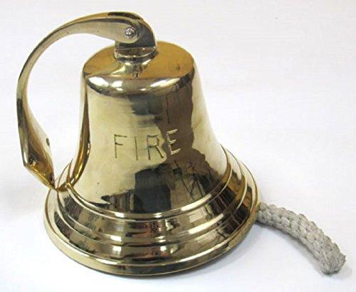 Iotc Br18452F, Solid Brass Bracket Fire Bell 8