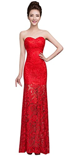 Drasawee Damen Bandeau Kleid