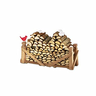 Department 56 Village Log Pile, Natural Wood