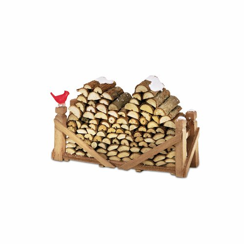 (Department 56 Accessories for Villages Natural Wood Log Pile Accessory Figurine)