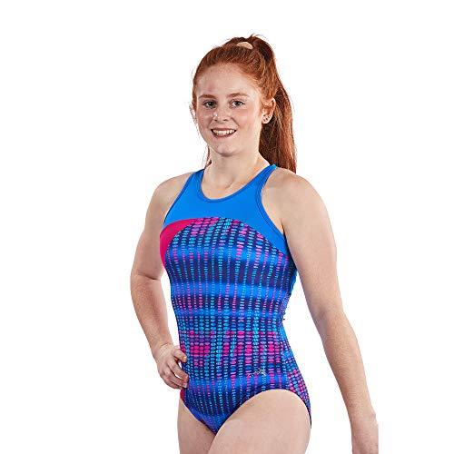 495b38033ac8 Lizatards Leotards for Girls Gymnastics: Fun Back Design in Nylon/Spandex  in Girls and Adult Sizes (Blue Pulse, Girls XL (14))