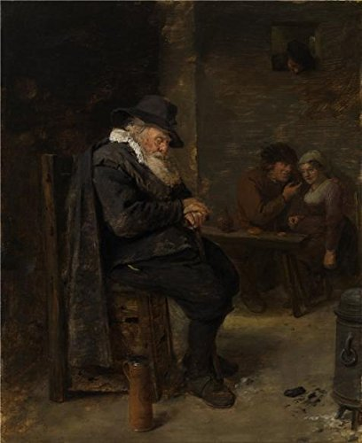 Oil Painting 'Old Man In The Pub By Adriaen Brouwer', 10 x 12 inch / 25 x 31 cm , on High Definition HD canvas prints is for Gifts And Garage, Home Theater And Living Room Decoration, pop