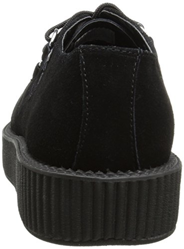Schwarz T Black Sneaker K Round Low Sole Damen Creeper U fr8qwCf