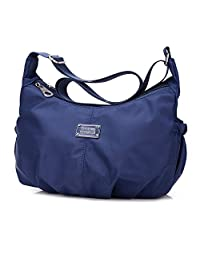 Tibes Women Waterproof Nylon Crossbody Messenger Bag Travel Shoulder Bag