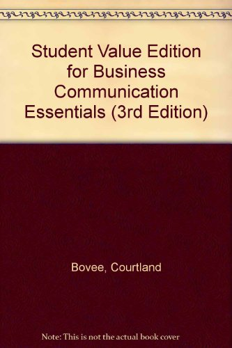 Student Value Edition for Business Communication Essentials (3rd Edition)