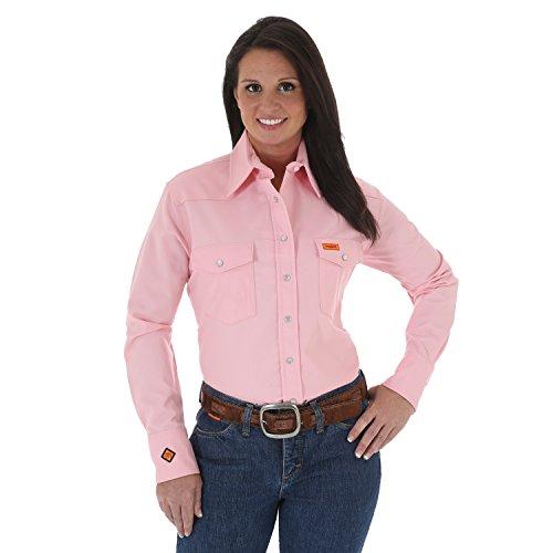 56e40826 Wrangler Women's FR Flame Resistant Western Twill Long Sleeve Snap Work  Shirt