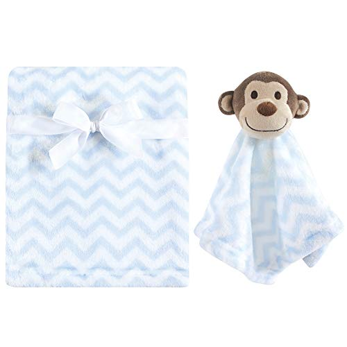Hudson Baby Unisex Baby Plush Blanket with Security Blanket, Monkey 2 Piece, One Size ()