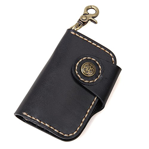 kinokoo Genuine Leather Key Wallet Key Case(Black) from kinokoo