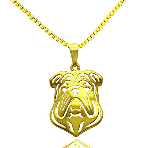 Pug-Dog-Animal-Pendant-Silver-Plated-Dog-Pug-Pendant-Necklace-Pet-Memorial-Jewelry