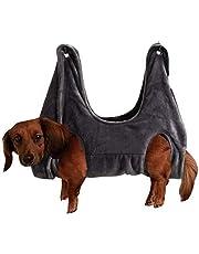 Hangmat voor huisdieren, vachtverzorging voor huisdieren, hangmat, hulp voor honden en katten voor de badkamer, wassen, vachtverzorging, nagelknipper (grijs, S)