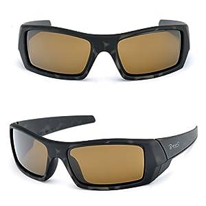 Unisex Ranger Rectangular Sports Sunglasses Italian made Corning natural glass lens