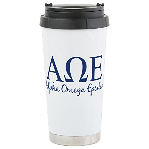 Omega Coffee Cups (CafePress - Alpha Omega Epsilon Stainless Steel Travel Mug - Stainless Steel Travel Mug, Insulated 16 oz. Coffee Tumbler)