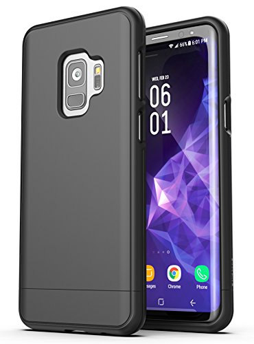Encased Samsung Galaxy J8 Phone Case, Slim Protective Grip Phone Cover (Slimshield Series) Ultra Thin Fit Design for Galaxy J8 - Smooth Black