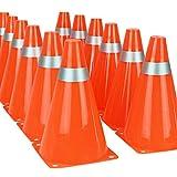 Conos de tráfico de 7 pulgadas para entrenamiento de fútbol (juego de 12)
