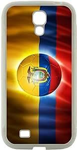 Rikki KnightTM Brazil World Cup 2014 Ecuador Team Football Soccer Flag Design Samsung? Galaxy S4 Case Cover (White Hard Rubber TPU with Bumper Protection) for Samsung Galaxy S4 i9500