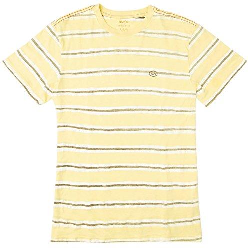 RVCA Men's Warped Stripe Vintage Wash Tee, Bright Lemon, X-Large Bright Lemon Stripe
