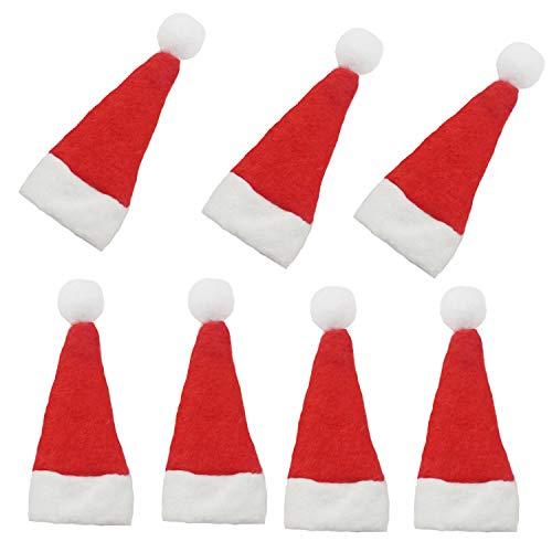 (Mini Santa Hats, 20 Pcs Mini DIY Red Christmas Santa Hats for Crafts)
