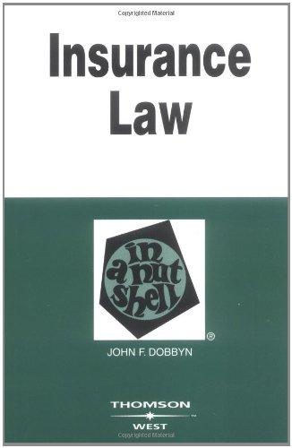 Insurance Law in a Nutshell (Nutshells)