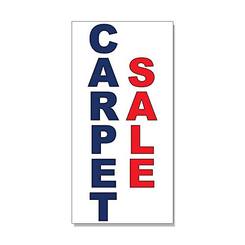 - Carpet Sale Blue Red Decal Sticker Retail Store Sign -14.5 X 36 Inches