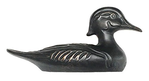(D'Artefax DHP92-ORB Pull (Right Facing) Decorative Duck Decoy Accent for cabinets Silver)