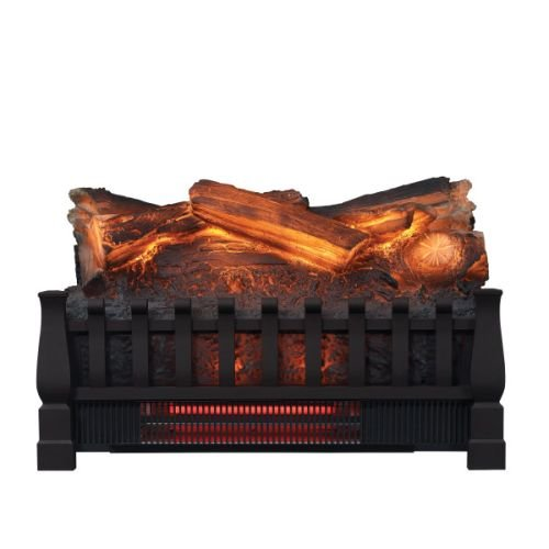 Duraflame Electric DFI030ARU Infrared Quartz Set Heater with Realistic Ember Bed and Logs Black