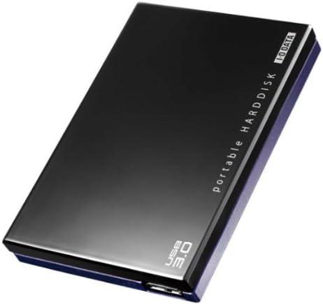 I-O DATA USB3.0対応 ポータブルハードディスク「超高速カクうす」 ブラック×ブルー 500GB HDPC-UT500K