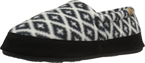 Acorn Women's Moc Slipper, Black/Cream Southwestern, Smal...