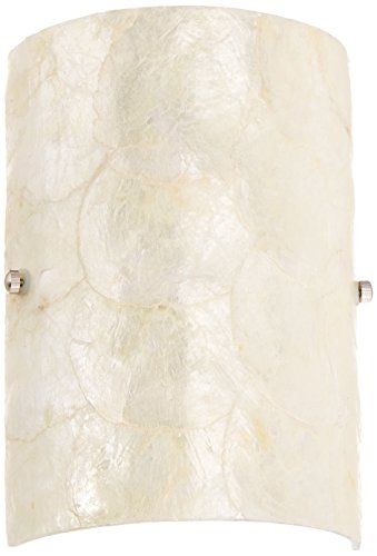 Hilite Glass Sconce (Lite Source LS-16112 Shelley Wall Lamp, Polished Steel, Shell Glass Shade)