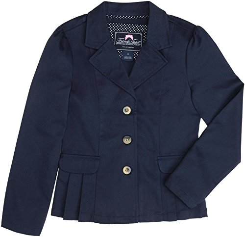 French Toast School Uniform Girls Twill Blazer, Navy, 18
