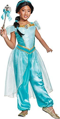 Disguise Girl's Disney Jasmine Theme Fancy Dress Toddler Child Halloween Costume, Toddler M -