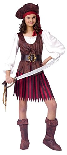 [Ponce Girls Pirate Costume High Seas Buccaneer Kids Cute Sailor] (High Priest Zombie Costumes)
