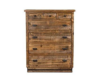 Amazoncom Sacramento Rustic Modern Solid Wood 7 Drawer Dresser